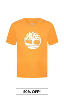 Timberland Yellow Cotton T-Shirt