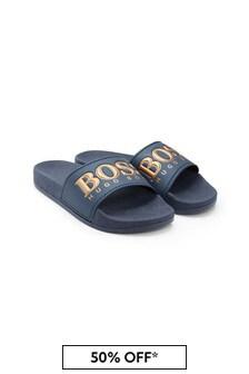 Boys Navy Sandals