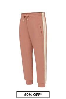 Chloe Kids Girls Orange Jersey Trousers