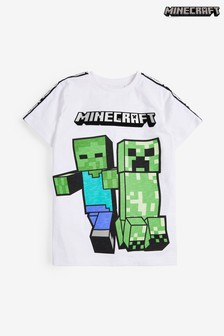 Minecraft Children /& Babies T-Shirt Black-Green,