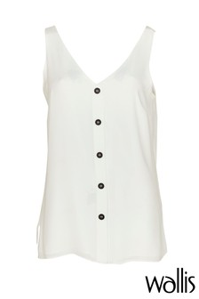 Wallis Petite Cream Button Through Cami