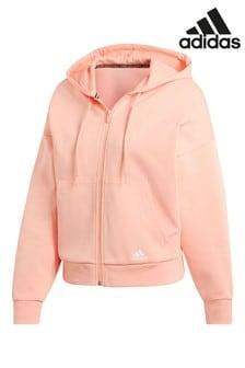 Розовая толстовка с 3 полосками adidas