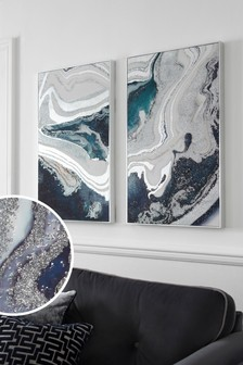 Set of 2 Galaxy Framed Canvases