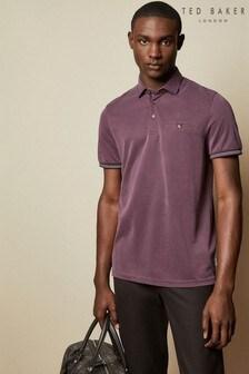 Ted Baker Purple Earbus Short Sleeved Polo Shirt