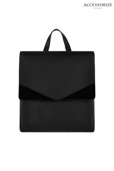 Accessorize Black Ivy Leather Backpack