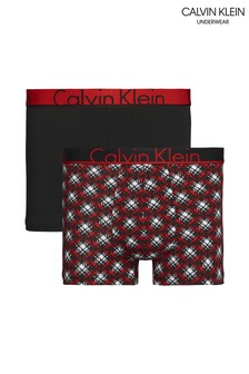 Calvin Klein Red CK ID Trunks Two Pack