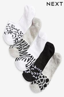 Mesh Insert Invisible Socks Five Pack