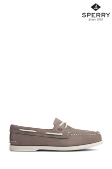 Sperry Grey Authentic Original PLUSHWAVE Washable Boat Shoes