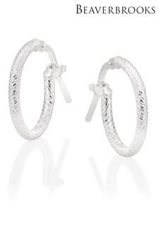 Beaverbrooks Sterling Silver Hoop Earrings