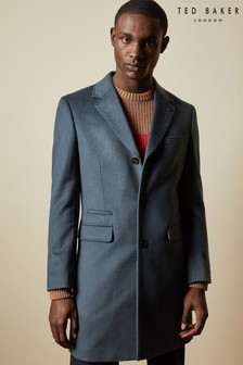 Ted Baker Blue Mariano Cashmere Blend Overcoat
