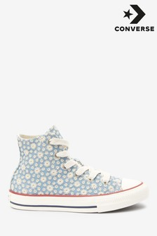 Converse Youth Daisy Print High Trainers