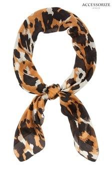 Accessorize Leopard Leopard Luxury Silk Scarf