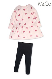 M&Co Heart Dress And Leggings