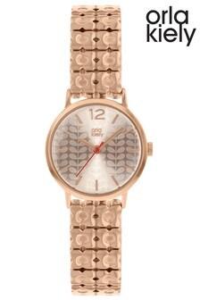 Orla Kiely Ladies Rose Gold Bracelet Watch
