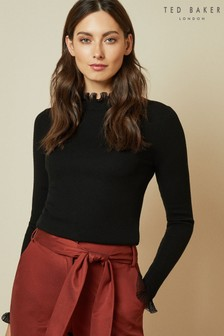 Ted Baker Dvana Frill Neck Detail Jumper