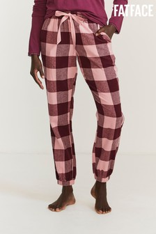 FatFace Pink Buffalo Check Pants