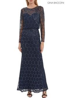 Gina Bacconi Kathrine Beaded Maxi Dress