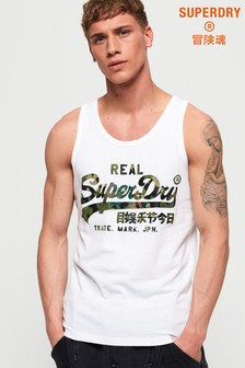 Superdry Vintage Logo Layered Camo Lite Vest Top