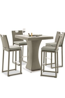 Monaco Garden Bar Set Light Grey