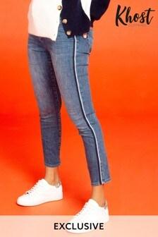 Khost Blue Tonal Tipped Jeans