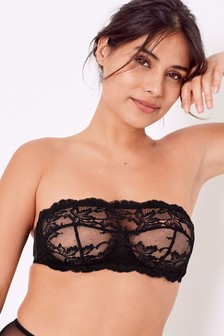 Jamie Non Padded Lace Bandeau Bra