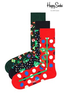 Happy Socks Women's Holiday 3Pack Giftbox