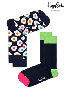 Happy Socks Navy/Multi Socks Two Pack