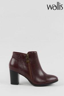 Wallis Waterfall Mulberry Side Zip Boots