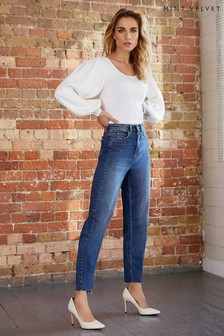 Mint Velvet Dallas Indigo Tapered Leg Jeans