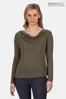 Regatta Green Frayda Long Sleeve Cowl Neck T-Shirt