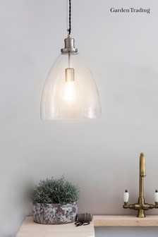 Hoxton Bullet Pendant Light by Garden Trading