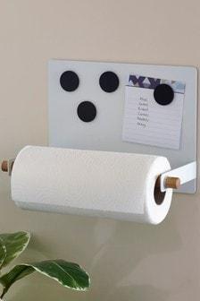 Uchwyt na ręczniki kuchenne z magnetyczną tablicą