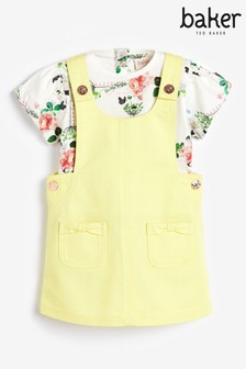 Baker by Ted Baker Yellow Dungarees And Top Set