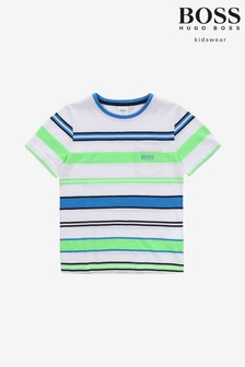 BOSS White Stripe T-Shirt