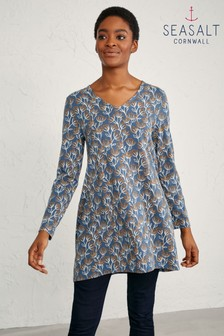 Seasalt Brushed Seed Heads Dusk Sea Cruise Tunic