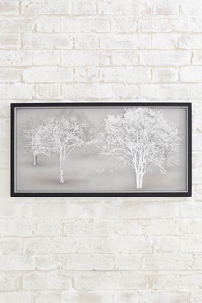 Etched Glass Landscape Collection Luxe Frame