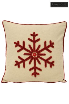 Nicholas Tufted Scalloped Snowflake Cushion by Riva Home