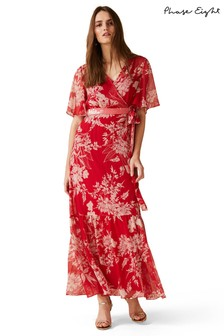 Phase Eight Red Amy Printed Maxi Dress