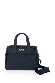 Navy Logo Baby Changing Bag