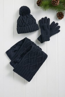 Knitted Hat/Scarf/Gloves Set (Older)