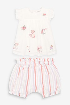 Character Embroidered Blouse And Bloomer Set (0mths-3yrs)
