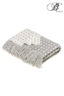 Bronte by Moon Multi Spot Merino Lambswool Throw