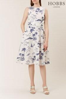 Hobbs Cream Twitchill Dress