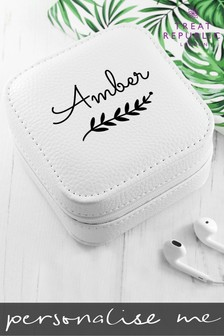 Personalised White Wreath Jewellery Box by Treat Republic