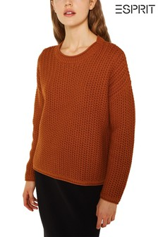 Esprit Long Sleeved Knitted Sweater With Round Neck