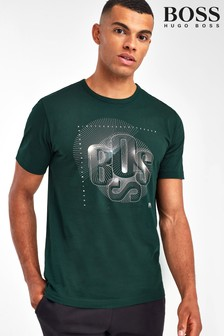 BOSS Green Tee 3 Abstract Logo Print T-Shirt