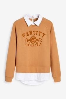 Mock Shirt Sweater