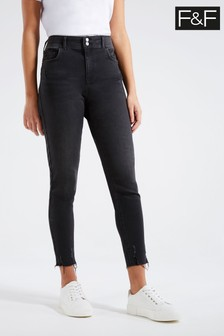 F&F Washed Black Push-Up Jeans