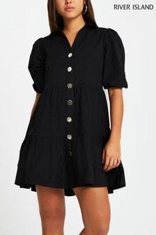 River Island Black Tier Shirt Mini Dress