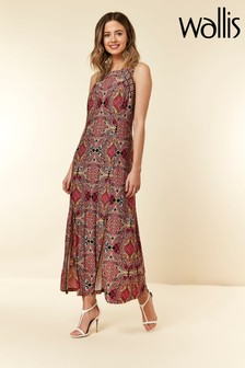 Wallis Petite Pink Mosaic Split Front Maxi Dress